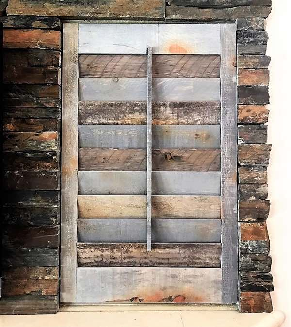 Detroit recycled wood shutter