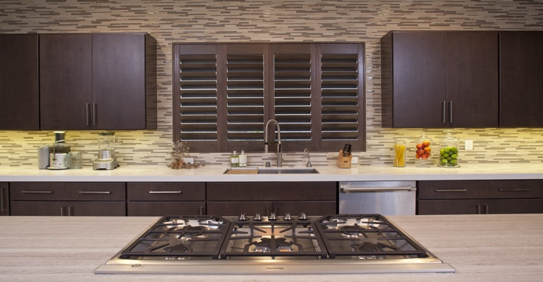 Detroit wood shutter kitchen