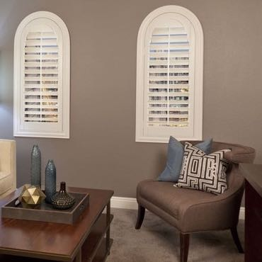 Detroit family room interior shutters.