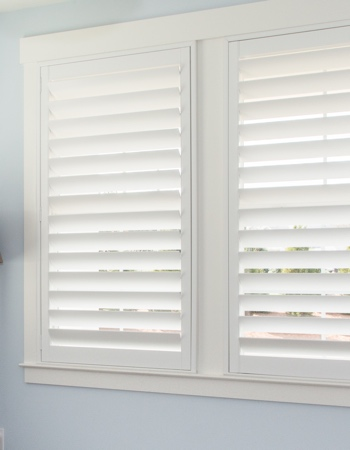 Polywood shutters with hidden tilt rods in Detroit