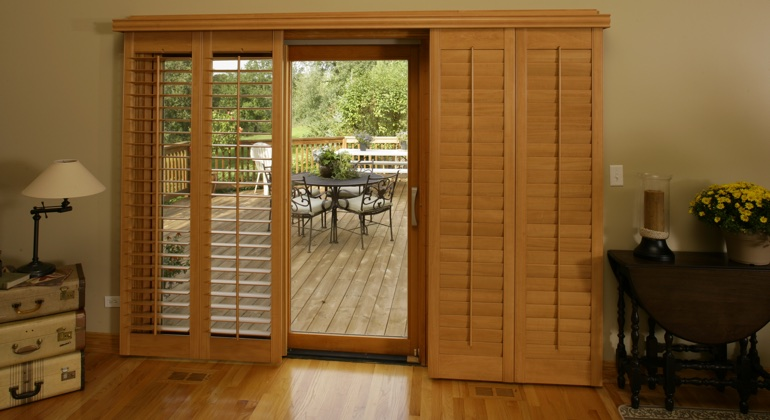 Detroit wood shutter sliding door