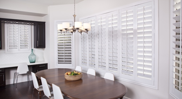 white shutters in Detroit kitchen