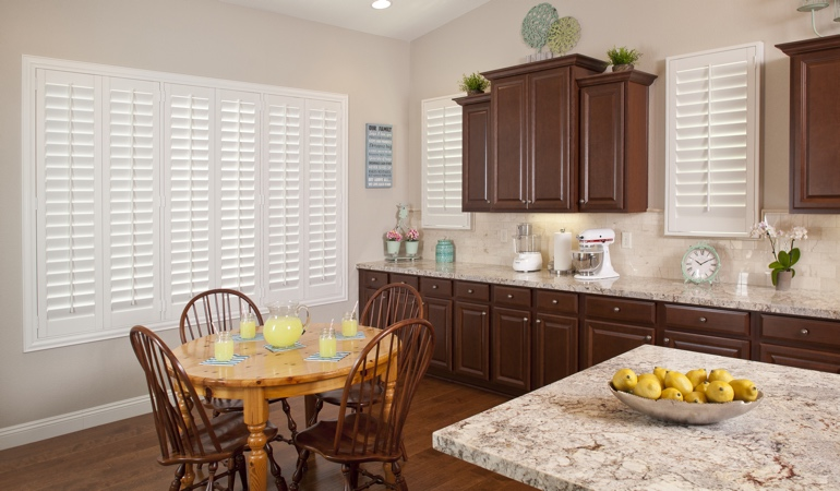 Polywood Shutters in Detroit kitchen
