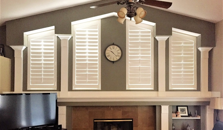 Polywood Shutters in Family Room in Detroit
