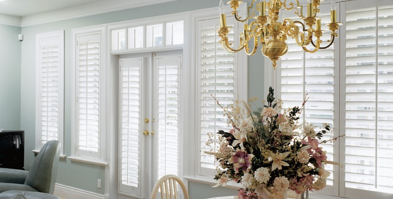 Detroit sunroom polywood shutters