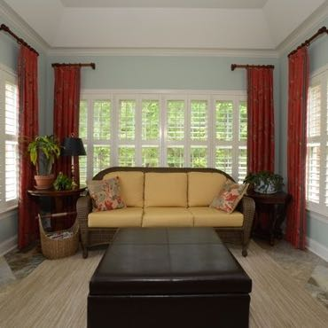 Detroit sunroom interior shutters.