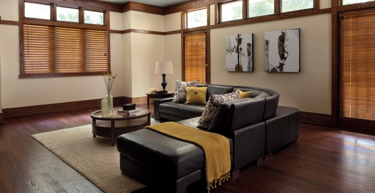 Detroit hardwood floor and blinds