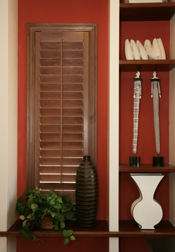 Detroit wood shutter shelving