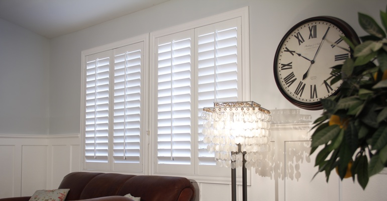 Detroit living room interior shutters