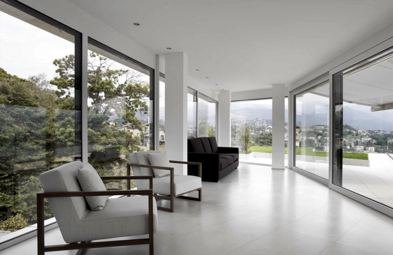 Window film in a contemporary home
