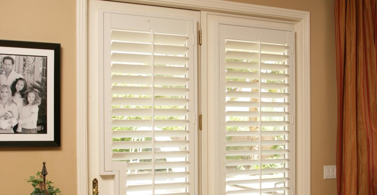 Detroit french door plantation shutters