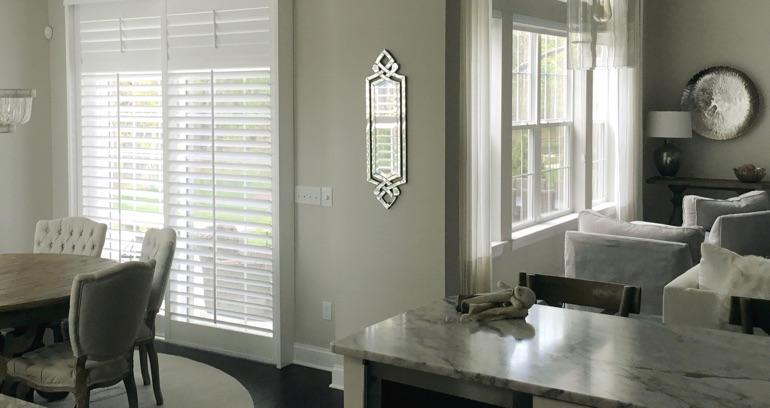 Detroit kitchen sliding glass door shutters