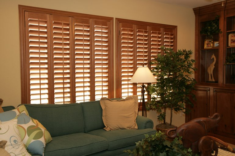 Ovation Shutters In A Detroit Living Room.