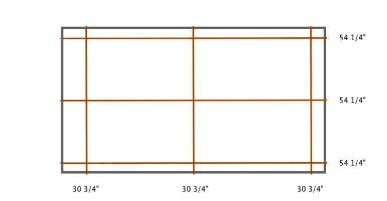 Detroit indoor shutter measurement diagram
