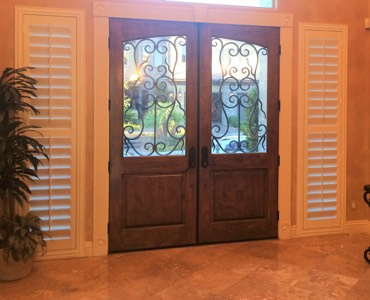 Detroit sidelight window treatment shutter