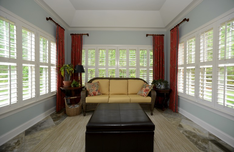 Plantation Shutters In A Detroit Sunroom