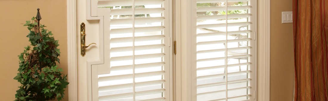 French door with shutters